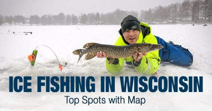 Ice Fishing in Wisconsin (WI) – Top Spots with Map
