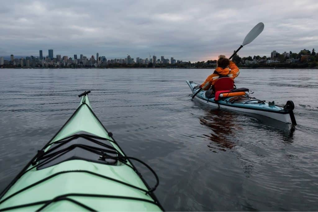 Kayaking in cold water